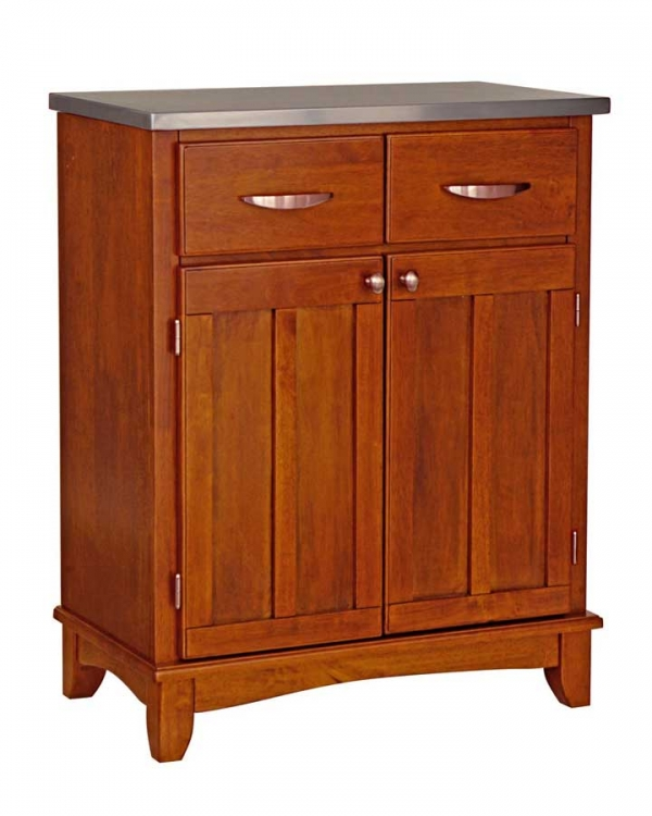 Cottage Oak-Stainless Steel Top Buffet - Home Styles