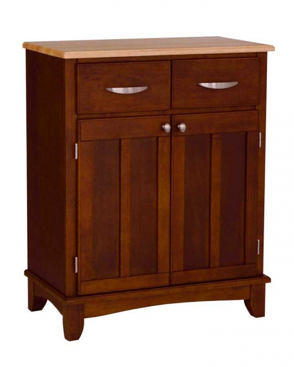 Cherry-Natural Wood Top Buffet - Home Styles