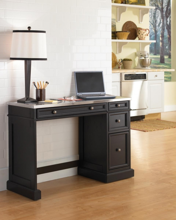 Traditions Utility Desk - Black - Home Styles
