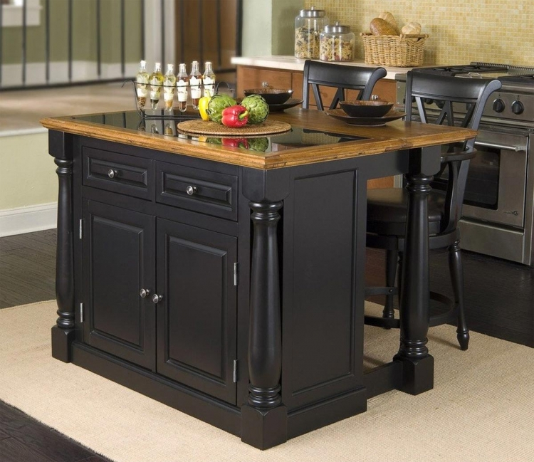Monarch Island Set - Distressed Oak