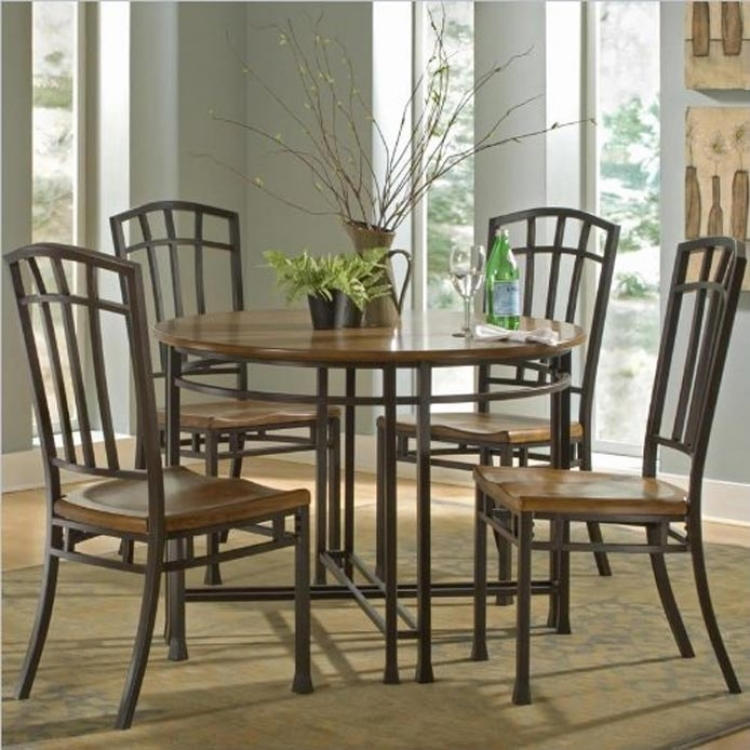 Hill Dining Table Set - Distressed Oak - Home Styles