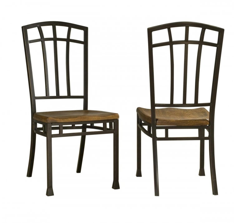 Hill Dining Chairs Pair - Distressed Oak - Home Styles
