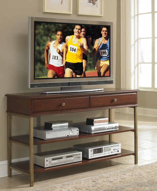 St. Ives Media TV Stand - Cinnamon Cherry - Home Styles