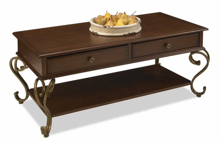 St. Ives Cocktail Table - Cinnamon Cherry - Home Styles