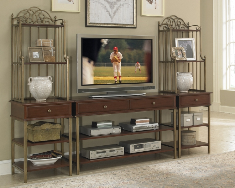 St. Ives 3Pc Media Entertainment Center - Cinnamon Cherry