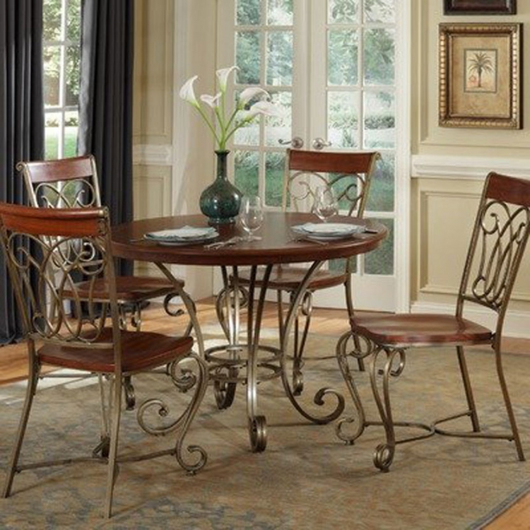 St. Ives Dining Table Set - Cinnamon Cherry - Home Styles