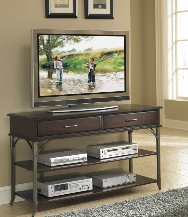 Bordeaux Media TV Stand - Espresso - Home Styles