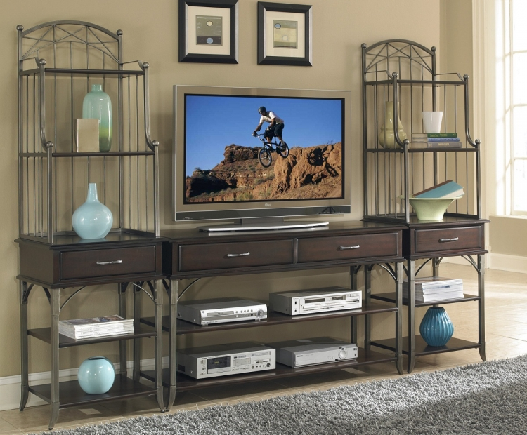 Bordeaux 3PC Entertainment Center - Espresso