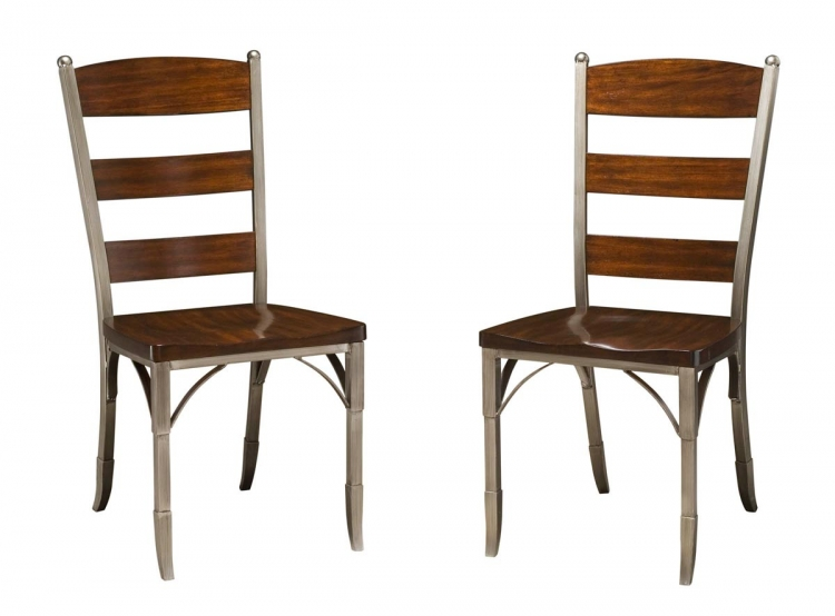 Bordeaux Dining Chair Pair - Espresso - Home Styles
