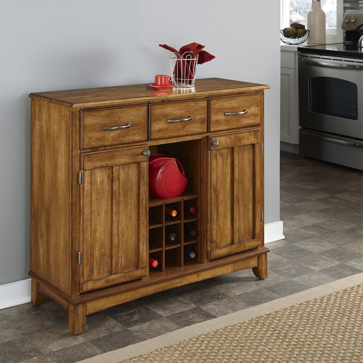 Cottage Oak Wood Top Buffet-Large