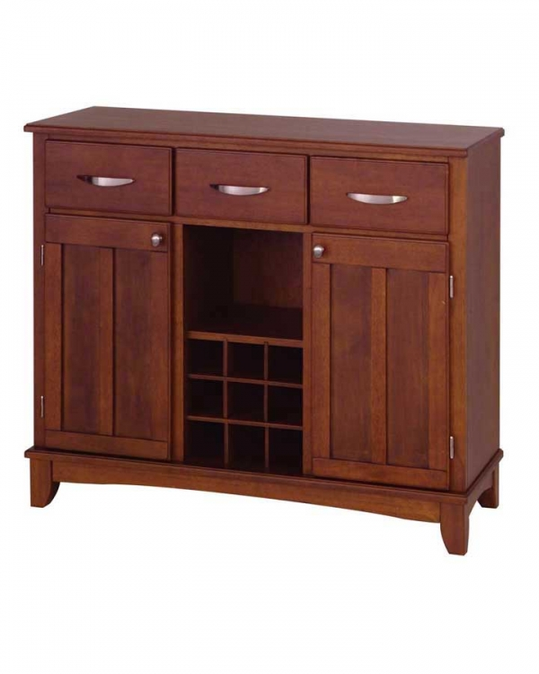 Cherry Wood Top Buffet-Large - Home Styles