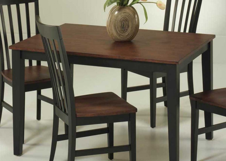 Rectangular Dining Table - Black and Cherry