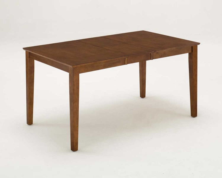 Rectangular Dining Table with Leaf - Oak
