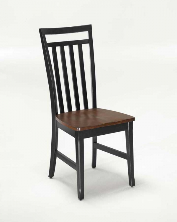 Dining Chair - Black and Cherry