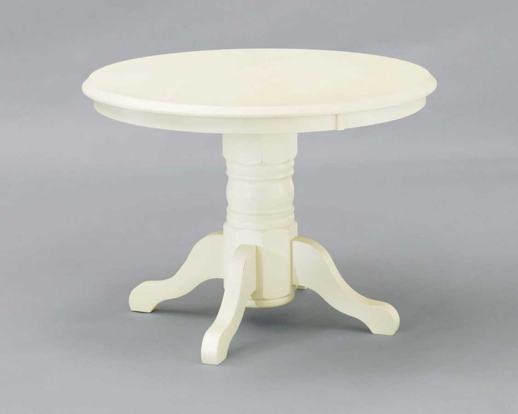 Round Pedestal Dining Table - White