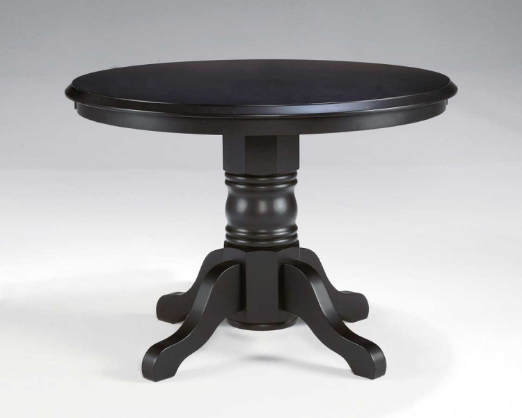 Round Pedestal Dining Table - Black - Home Styles