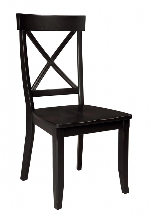 Dining Chairs Pair - Black - Home Styles