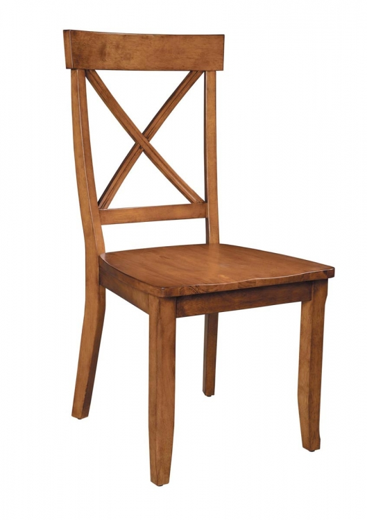 Dining Chairs Pair - Cottage Oak - Home Styles