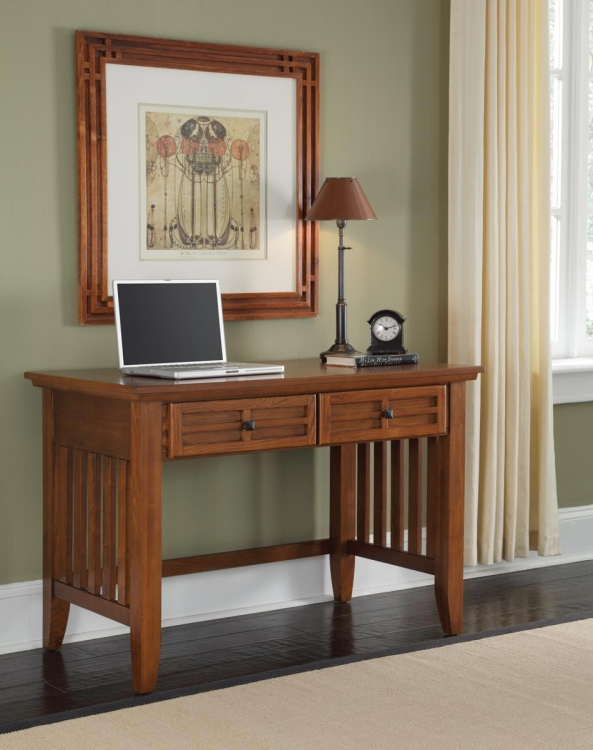 Arts and Crafts Student Desk - Cottage Oak - Home Styles