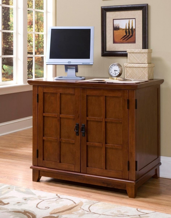 Arts and Crafts Compact Desk - Cottage Oak - Home Styles
