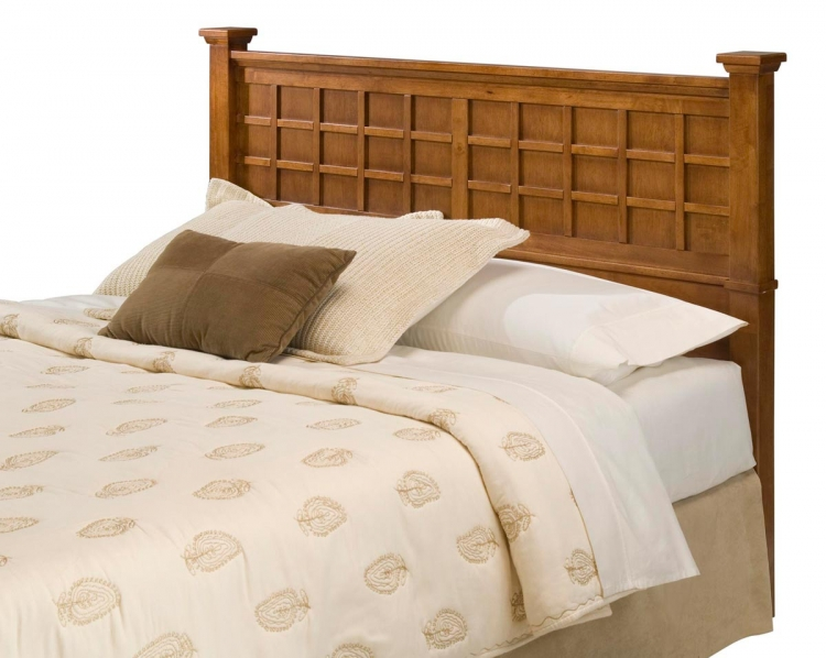Arts and Crafts Queen Headboard - Cottage Oak
