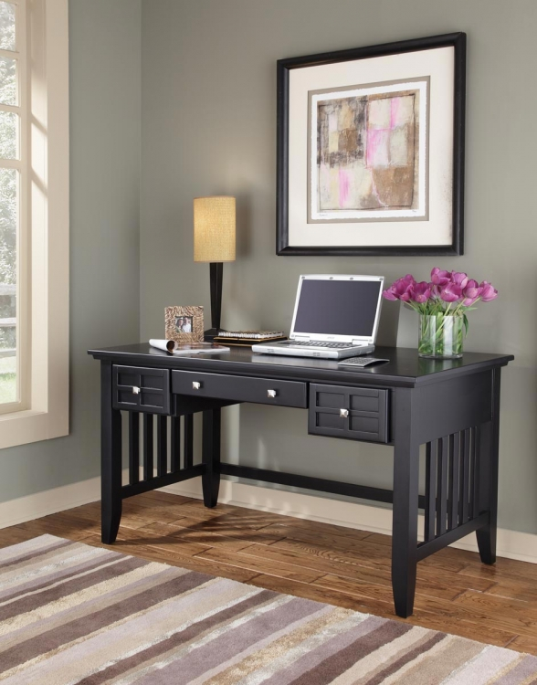 Arts and Crafts Executive Desk - Black