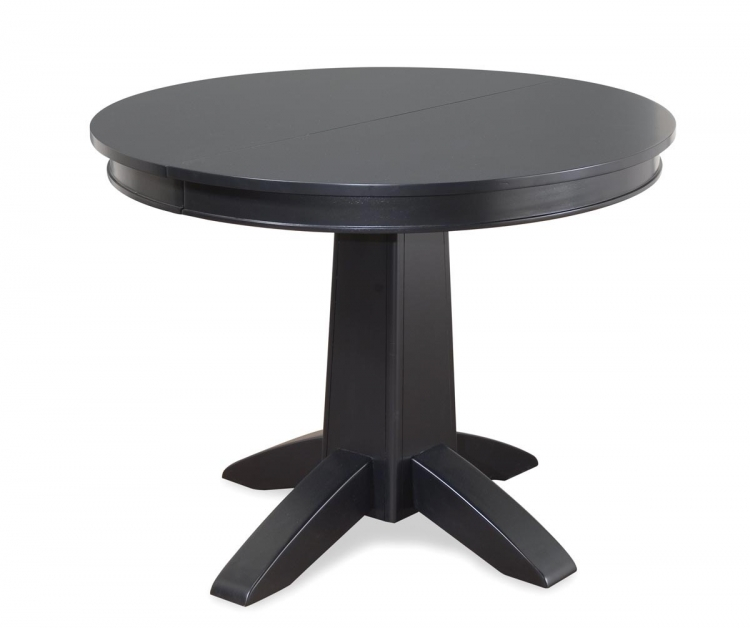 Arts and Crafts Round Dining Table - Black - Home Styles