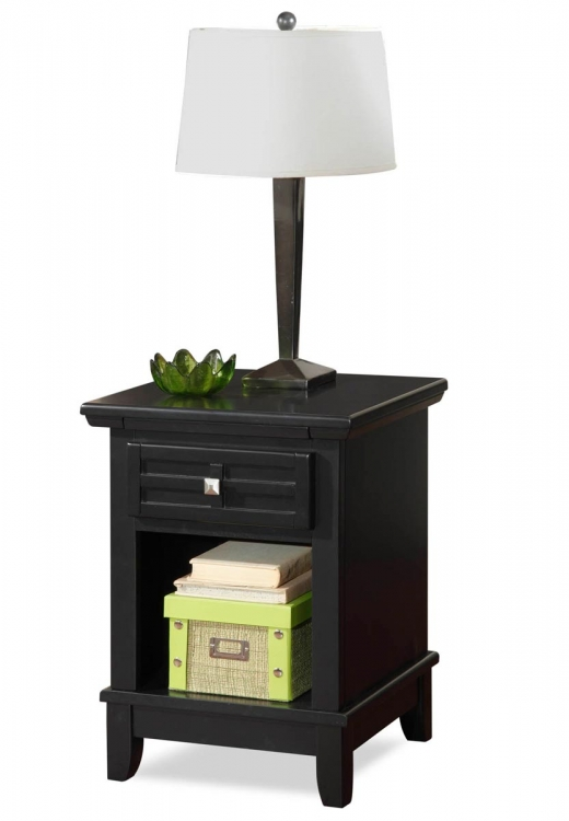 Arts and Crafts Night Stand - Black