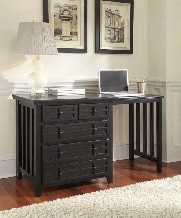 Arts and Crafts Expand-A-Desk - Black - Home Styles