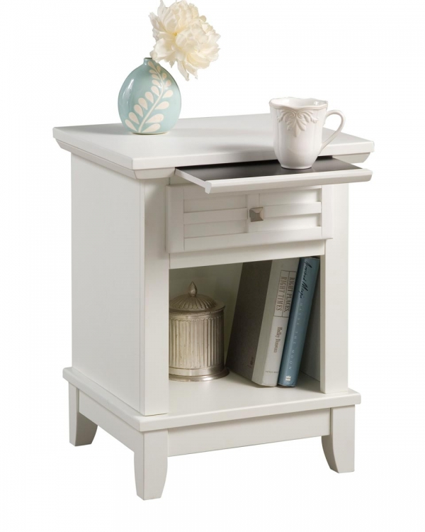 Arts and Crafts Night Stand - White