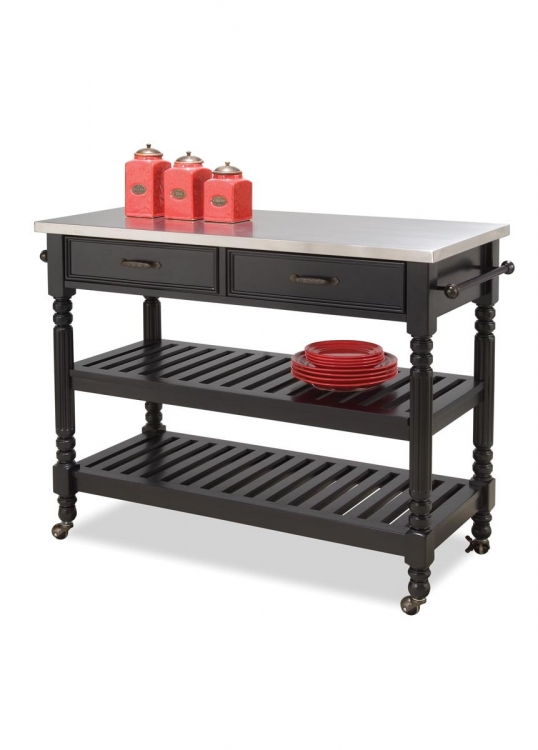 Savannah Kitchen Cart - Black - Home Styles