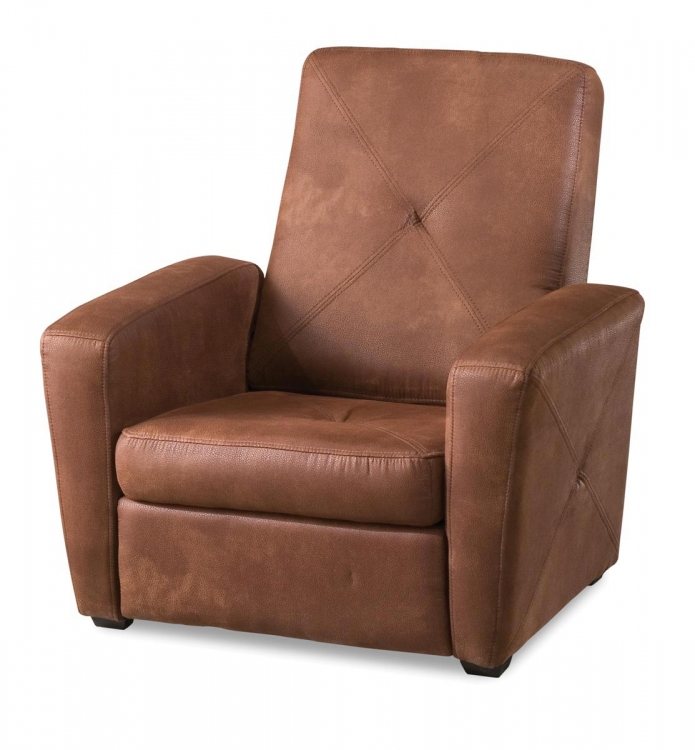 Rustic Brown Microfiber Gaming Chair and Ottoman - Brown Microfiber - Home Styles