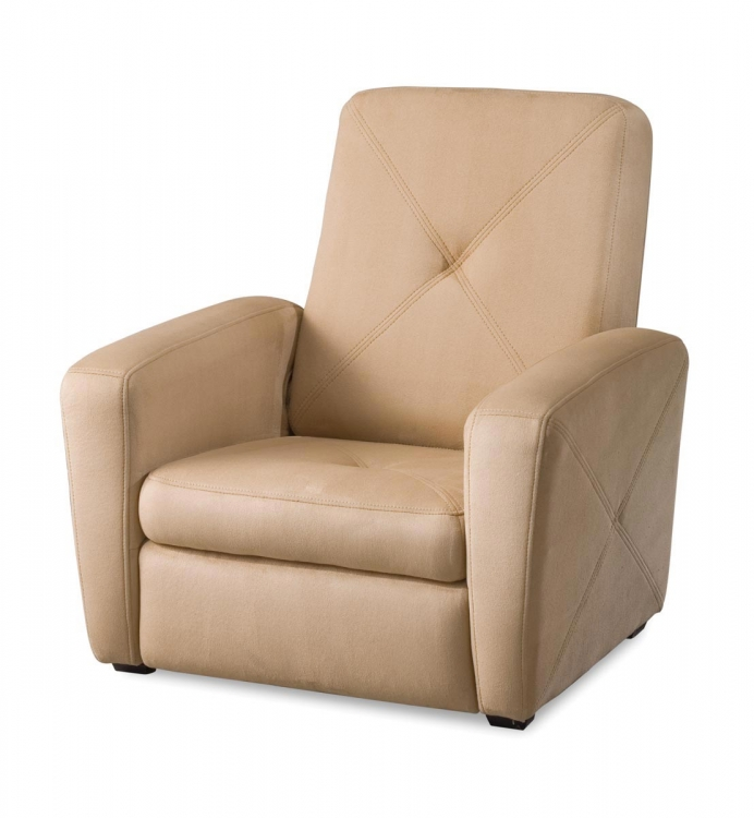Tan Microfiber Gaming Chair and Ottoman - Tan Microfiber - Home Styles