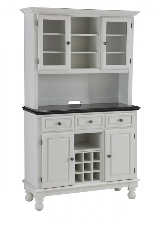 Premium Buffet with Granite Top and Hutch - White - Home Styles