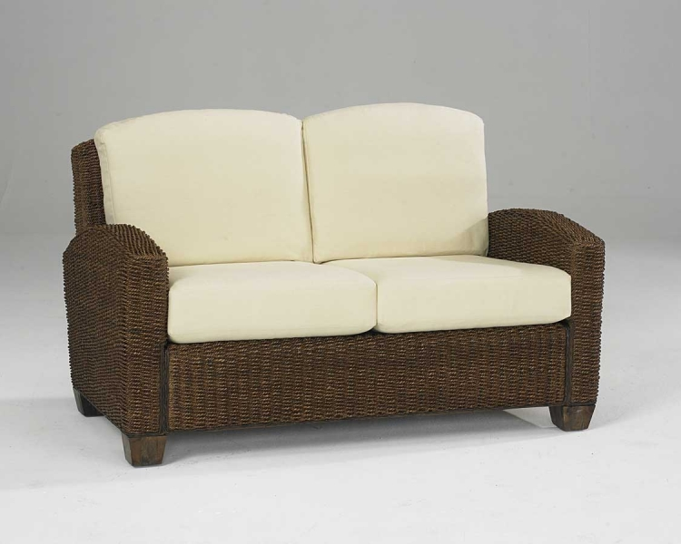 Cabana Banana Love Seat in Cocoa - Home Styles
