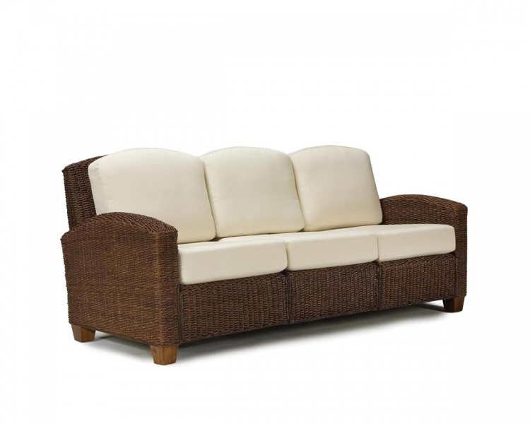 Cabana Banana Three Seat Sofa - Cocoa - Home Styles