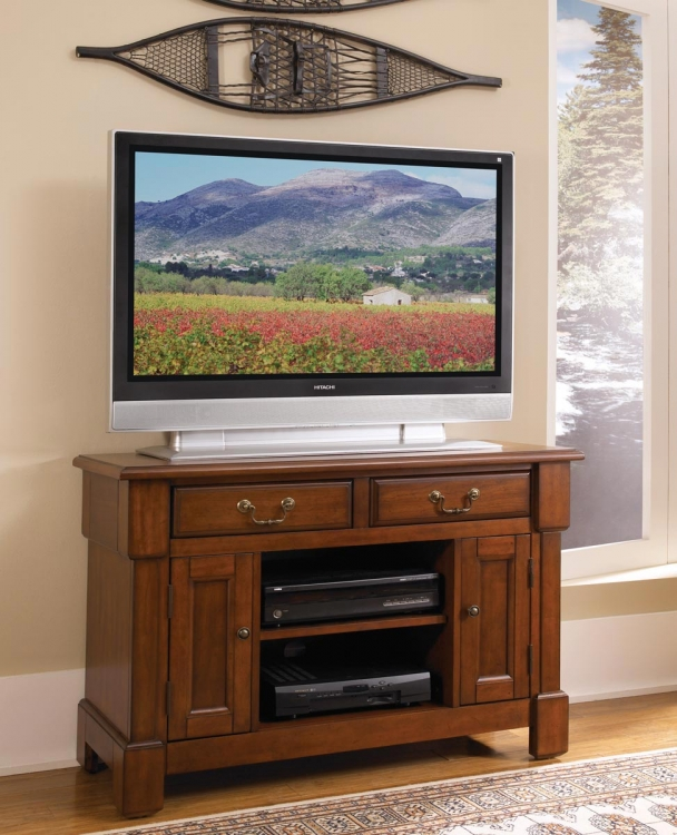 Aspen TV Stand - Rustic Cherry - Home Styles