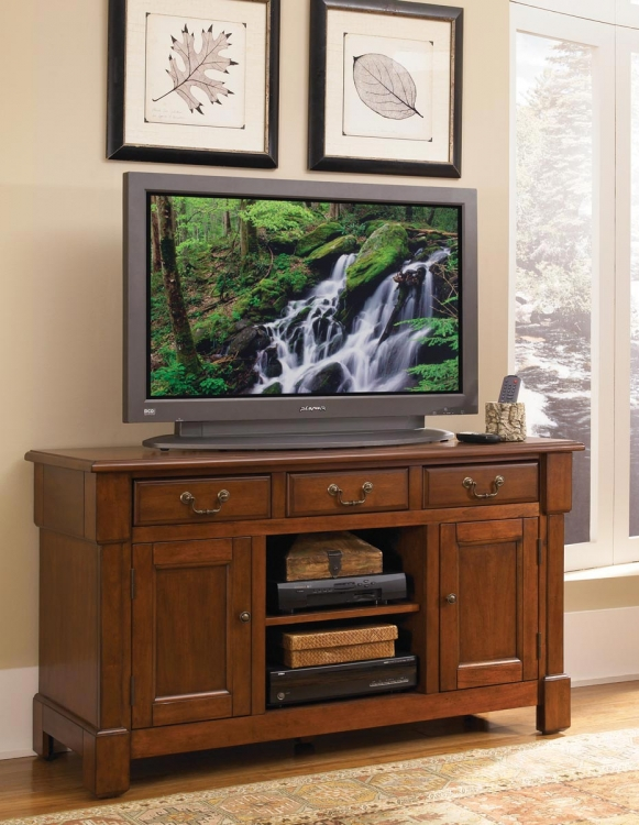 Aspen TV Credenza - Rustic Cherry - Home Styles