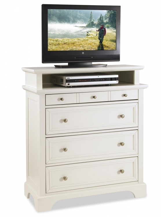 Naples TV Media Chest - White - Home Styles