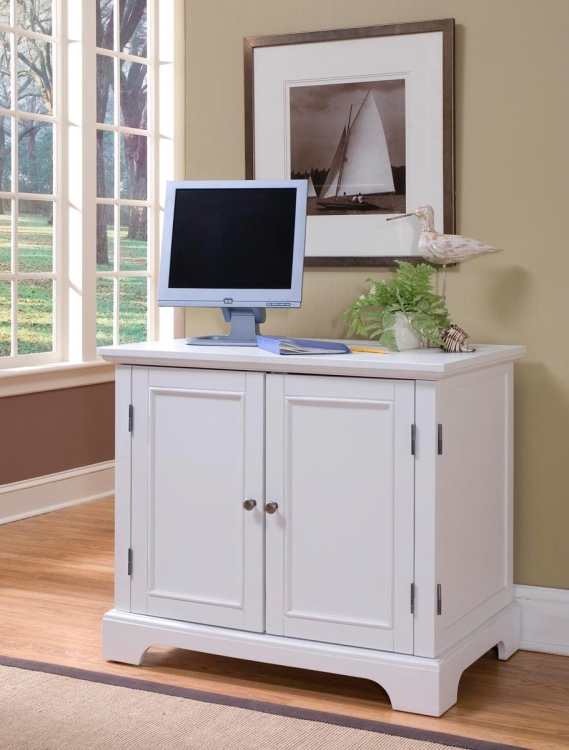 Naples Compact Computer Desk - White - Home Styles