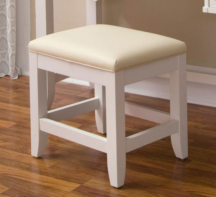 Naples Vanity Bench - White - Home Styles