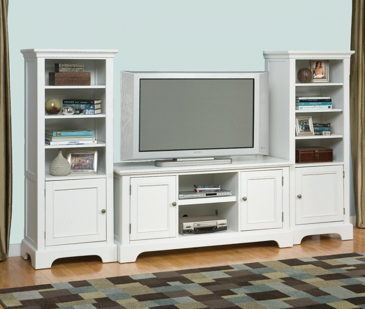 Naples 3 Pc Entertainment Center - White