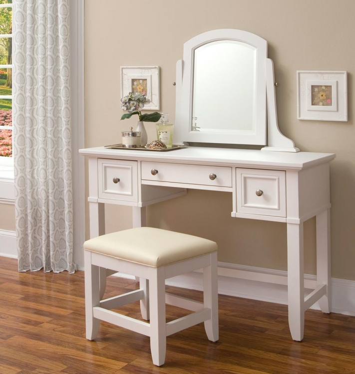Naples Vanity Table - White - Home Styles