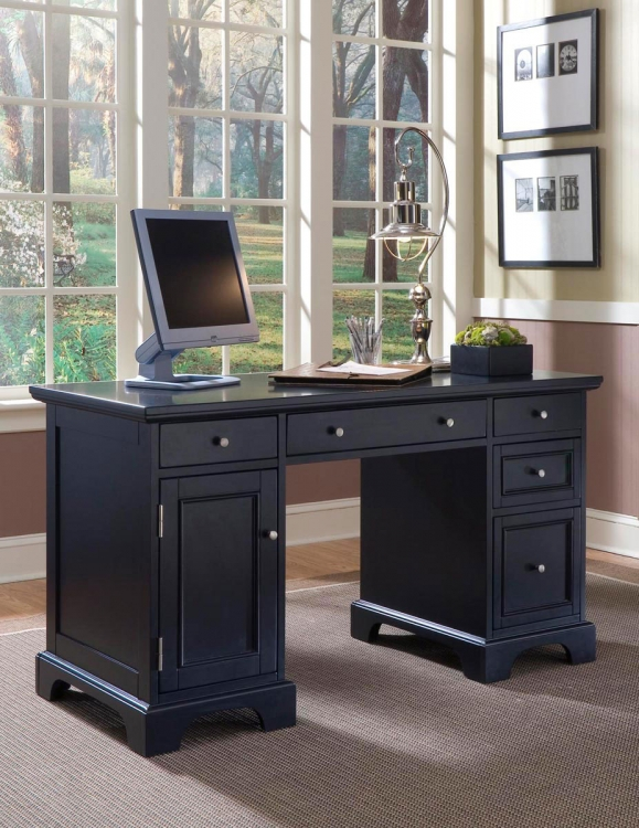 Bedford Pedestal Desk - Black