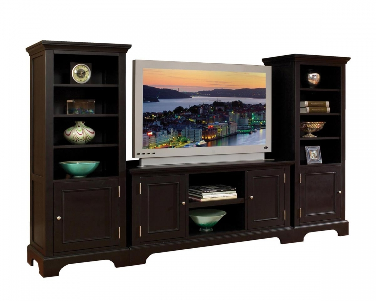 Bedford 3 Pc Entertainment Center - Black - Home Styles