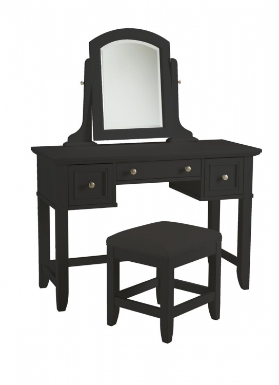 Bedford Vanity Table and Bench - Black - Home Styles