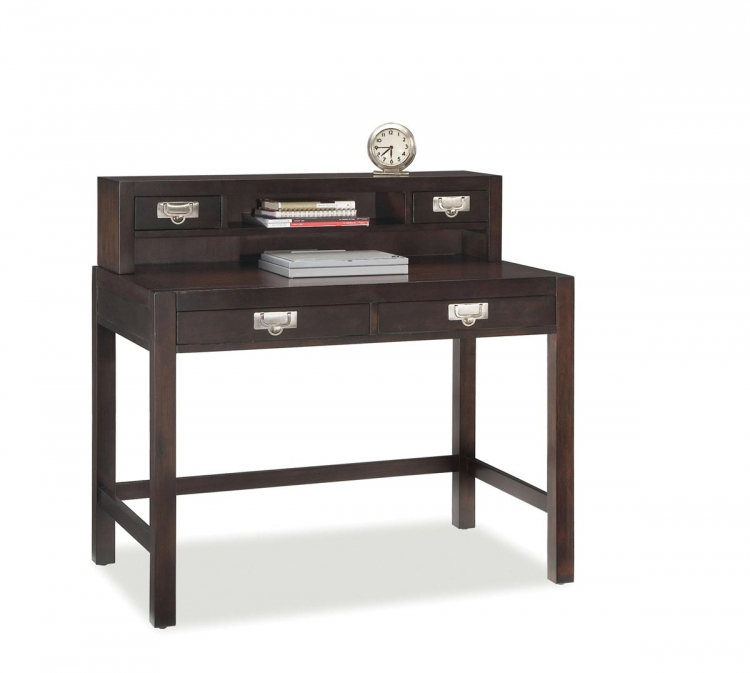 City Chic Student Desk and Hutch - Espresso - Home Styles