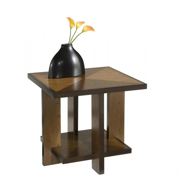 Geo End Table - Walnut - Home Styles