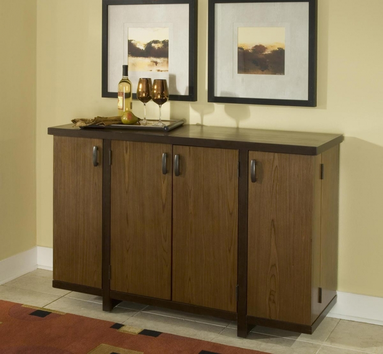 Geo Bar Cabinet - Walnut - Home Styles