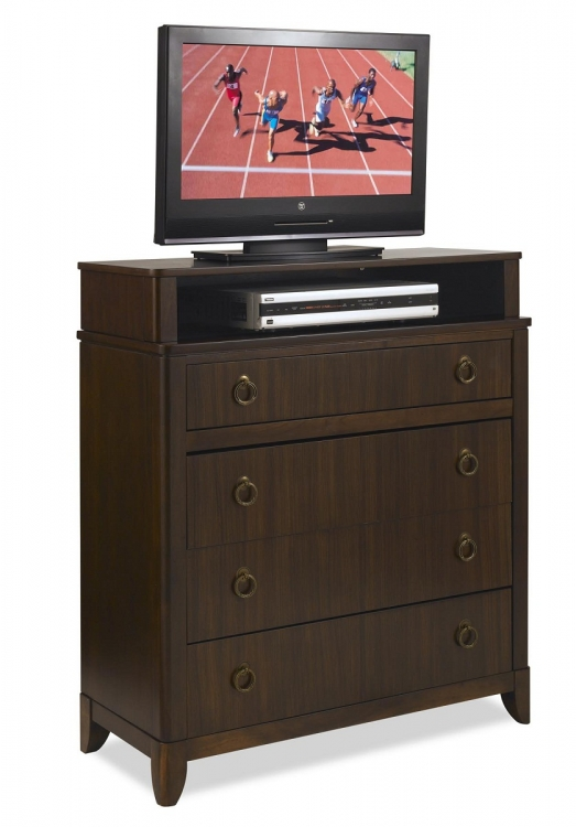 Paris TV Media Chest - Mahogany - Home Styles